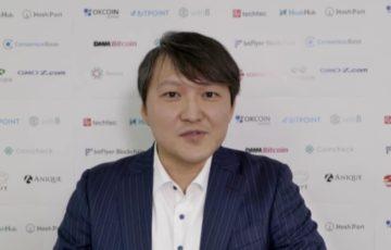 ブロックチェーンオンライン転職フェアにてスピーチを行うオーケーコイン・ジャパン COO 藤野周作氏